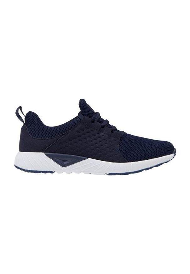 Niebieskie buty sportowe Cellbes wspinaczkowe, na platformie, z aplikacjami, na sznurówki