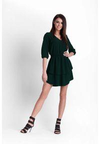 Zielona sukienka rozkloszowana IVON