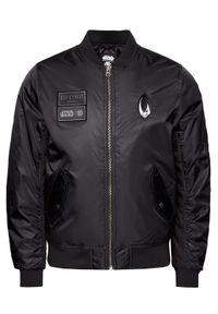 Czarna kurtka bomberka Element z motywem z bajki