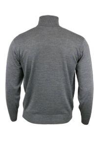 Szary sweter MM Classic z klasycznym kołnierzykiem, klasyczny