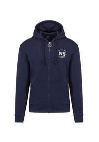 North Sails - Bluza NORTH SAILS FULL ZIP HOODED SWEATER W/GRAP. Typ kołnierza: kaptur. Materiał: bawełna, prążkowany. Wzór: nadruk