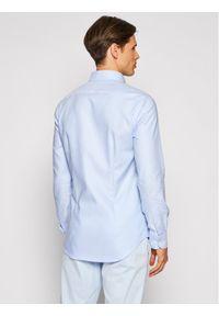Tommy Hilfiger Tailored Koszula Dobby MW0MW18976 Niebieski Slim Fit. Kolor: niebieski