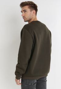 Born2be - Ciemnobrązowa Bluza Argothea. Typ kołnierza: bez kaptura. Kolekcja: plus size. Kolor: brązowy. Materiał: bawełna, dzianina, polar. Wzór: napisy, nadruk. Styl: klasyczny #2