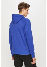 Niebieska bluza nierozpinana Under Armour z kapturem, z nadrukiem