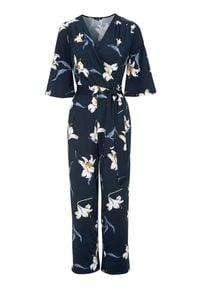 Happy Holly Kombinezon we wzory Simone ciemnoniebieski we wzory female niebieski/ze wzorem 32/34. Kolor: niebieski. Materiał: jersey. Długość rękawa: krótki rękaw. Długość: krótkie