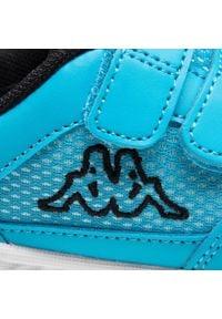 Kappa - Sneakersy KAPPA - Kickoff K 260509K Azur/Black 6211. Zapięcie: rzepy. Kolor: niebieski. Materiał: skóra ekologiczna, materiał. Szerokość cholewki: normalna #5