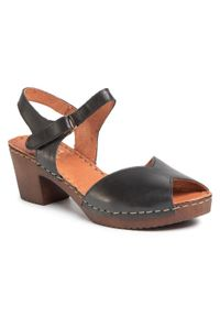 Czarne sandały Manitu