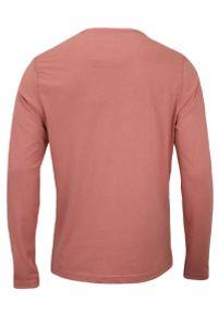Różowy t-shirt Brave Soul na co dzień, casualowy, z długim rękawem