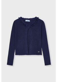 Niebieski sweter Mayoral gładki, casualowy, na co dzień