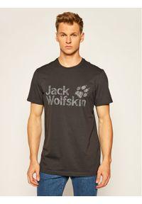 Jack Wolfskin T-Shirt Brand Logo T 1807261 Szary Regular Fit. Kolor: szary