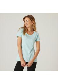 NYAMBA - Koszulka krótki rękaw fitness. Kolor: zielony. Materiał: elastan, poliester, materiał, lyocell, bawełna. Długość rękawa: krótki rękaw. Długość: krótkie. Sport: fitness