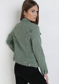 Born2be - Ciemnozielona Kurtka Jeansowa Jennishell. Kolor: zielony. Materiał: jeans