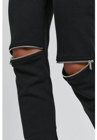 Nissa - NISSA - Spodnie. Kolor: czarny. Materiał: dzianina. Wzór: gładki
