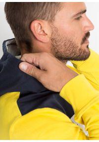 Żółta bluza bonprix z nadrukiem, z kapturem