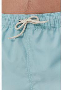 Selected - Szorty kąpielowe. Kolor: turkusowy. Materiał: tkanina