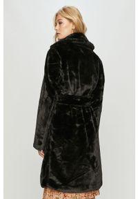 Czarny płaszcz Vila bez kaptura, klasyczny