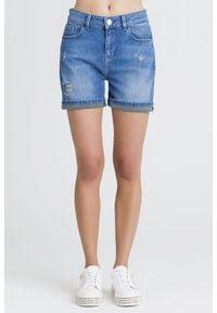 SZORTY JEANSOWE Trussardi Jeans. Stan: podwyższony. Długość: krótkie. Sezon: lato. Styl: rockowy, klasyczny