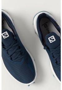 salomon - Salomon - Buty ALPHACROSS BLAST GTX. Nosek buta: okrągły. Zapięcie: sznurówki. Kolor: niebieski. Materiał: guma. Technologia: Gore-Tex