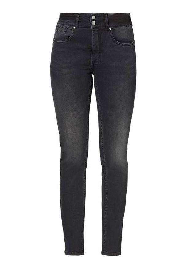 Czarne jeansy Cellbes eleganckie, z podwyższonym stanem