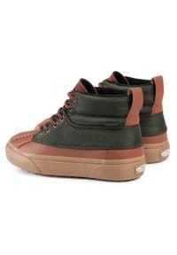 Vans - Sneakersy VANS - Sk8-Hi Del Pato M VN0A34962UJ1 (Mte)Tortoiseshellkombugr. Kolor: zielony, brązowy, wielokolorowy. Materiał: skóra, materiał. Szerokość cholewki: normalna. Model: Vans SK8