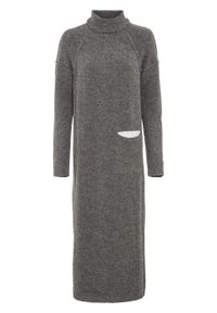 Szara sukienka bonprix melanż