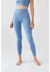 Women Secret - women´secret - Legginsy. Stan: podwyższony. Kolor: niebieski. Materiał: dzianina