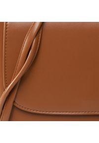 DeeZee - Torebka DEEZEE - RX0640 Camel. Kolor: brązowy. Materiał: skórzane