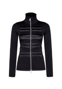 Czarna bluza Toni Sailer z aplikacjami, sportowa
