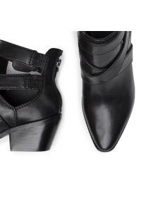 Czarne botki Guess na średnim obcasie, na obcasie #8