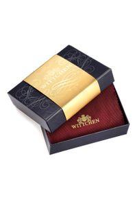 Wittchen - Męski portfel skórzany zapinany. Kolor: brązowy. Materiał: skóra