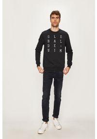 Czarna bluza nierozpinana Blend na co dzień, z okrągłym kołnierzem, z aplikacjami, casualowa #5