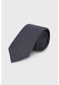 Hugo - Krawat. Kolor: niebieski. Materiał: materiał