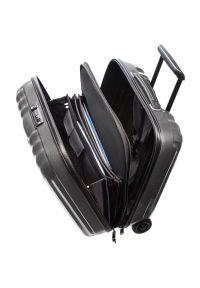 Czarna torba na laptopa Samsonite elegancka, w kolorowe wzory
