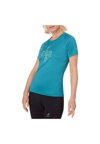 Koszulka damska do biegania Energetics Buena 411880. Materiał: tkanina, poliester, materiał. Długość: długie. Wzór: nadruk. Sezon: lato. Sport: fitness