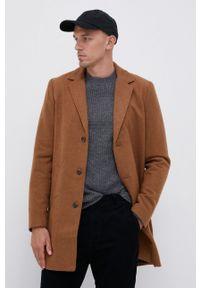 !SOLID - Płaszcz. Okazja: na co dzień. Kolor: brązowy. Materiał: tkanina. Wzór: gładki. Styl: klasyczny, casual