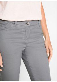Spodnie ze stretchem Slim Fit bonprix szary. Kolor: szary. Materiał: bawełna #3