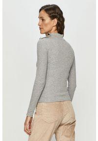 Szary sweter Haily's z długim rękawem, z golfem, długi