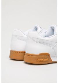 Białe sneakersy Reebok z cholewką, na sznurówki