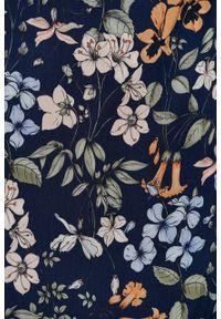 Marie Zélie - Sukienka Irmina Umbra. Materiał: wiskoza, materiał, tkanina, skóra, poliester. Długość rękawa: krótki rękaw. Wzór: napisy. Typ sukienki: proste, kopertowe