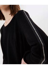 Liu Jo - LIU JO - Czarna bluza z aplikacją. Kolor: czarny. Wzór: aplikacja