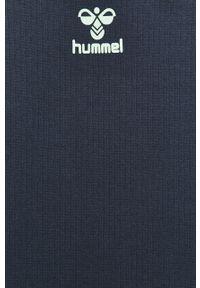 Niebieska bluza Hummel z okrągłym kołnierzem, na co dzień, z nadrukiem