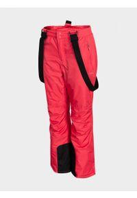 Różowe spodnie narciarskie outhorn