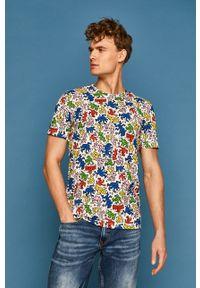 Biały t-shirt medicine na co dzień, casualowy, w kolorowe wzory