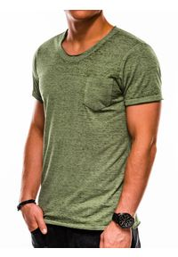 Zielony t-shirt Ombre Clothing
