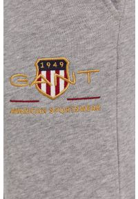 GANT - Gant - Spodnie. Kolor: szary. Materiał: materiał
