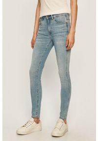 Niebieskie jeansy G-Star RAW z podwyższonym stanem
