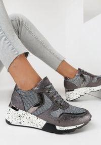 Born2be - Szare Sneakersy Athizalphia. Kolor: szary