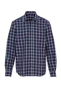 Niebieska koszula Cellbes długa, z długim rękawem, w kratkę