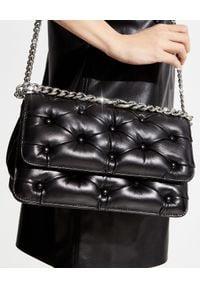 BENEDETTA BRUZZICHES - Pikowana torebka Carmen Large. Kolor: czarny. Materiał: pikowane. Rodzaj torebki: na ramię