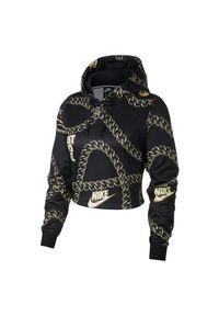 Bluza damska treningowa Nike Sportswear CJ6305. Typ kołnierza: kaptur. Materiał: tkanina, poliester, dzianina, materiał. Długość: krótkie. Wzór: gładki
